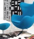 голубое кресло яйцо