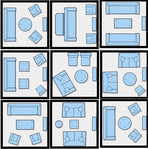 схема расстановки мебели в гостиной